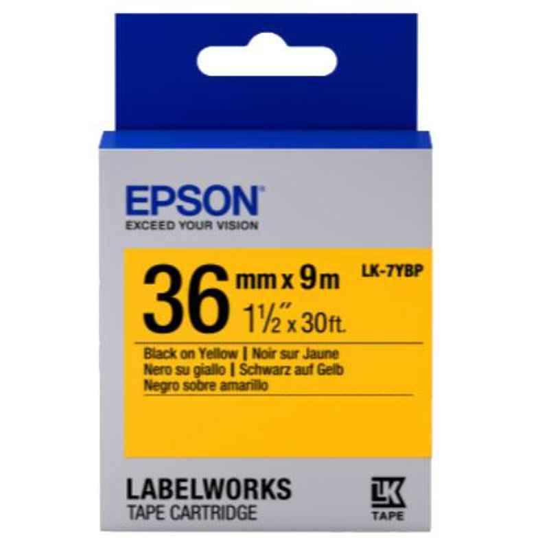 Epson LK-7YBP Black & Yellow Label Tape