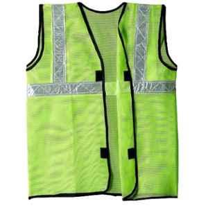 RPES Green Polyester Safety Jacket with 2 inch Reflective Tape