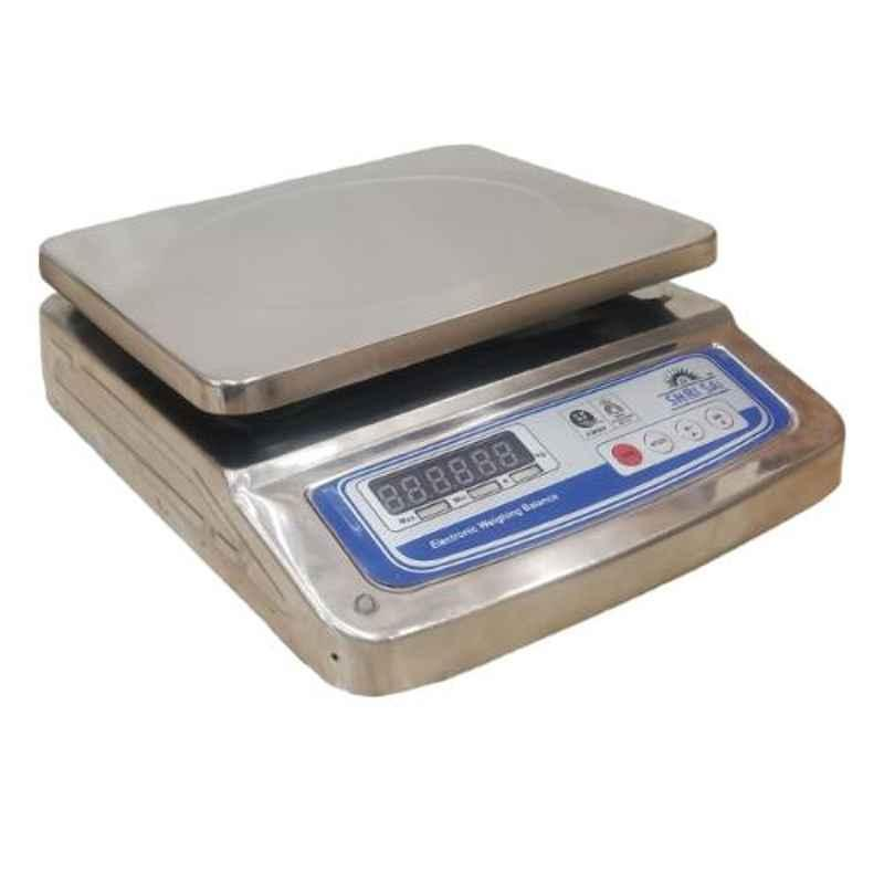 Shri Sai 30kg Stainless Steel Digital Table Top Weighing Scale, TT-SSFB-30T