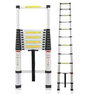 Bigapple 150kg 14 Step 4.1m Telescopic Aluminium Folding Step Ladder, BA-C410