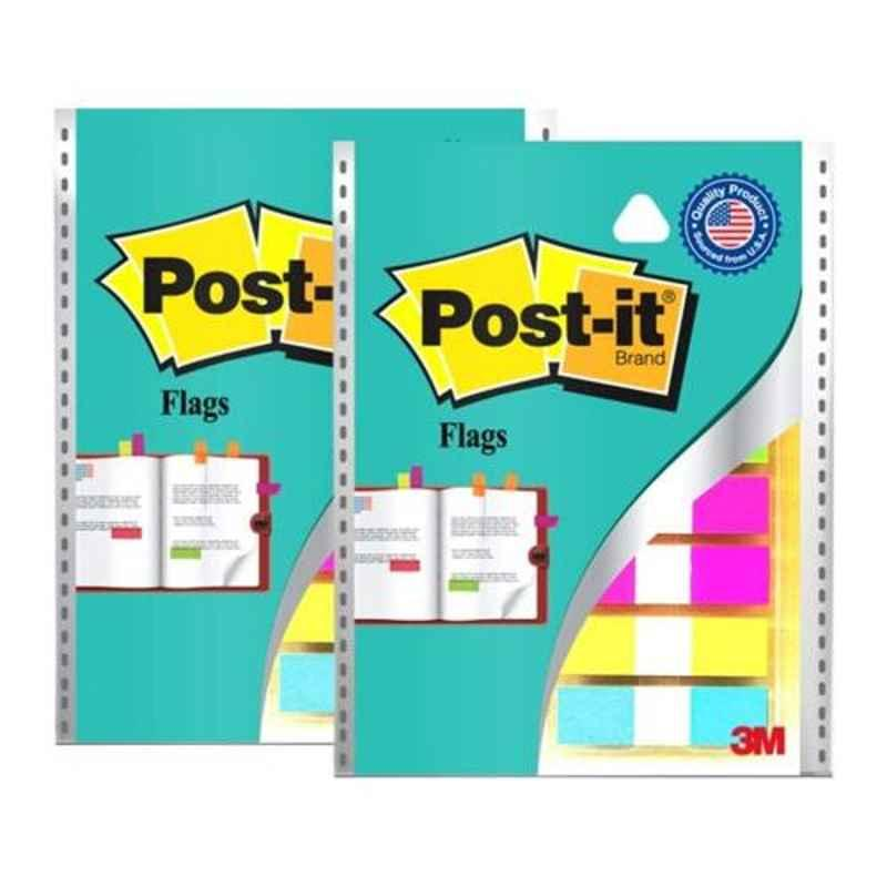 3M Post it 12.5x43.7mm 5 Color Flag, (Pack of 2)