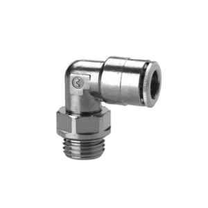 Camozzi 6522 6-1/8 Brass Metric BSP Swivel Male Elbow Connector
