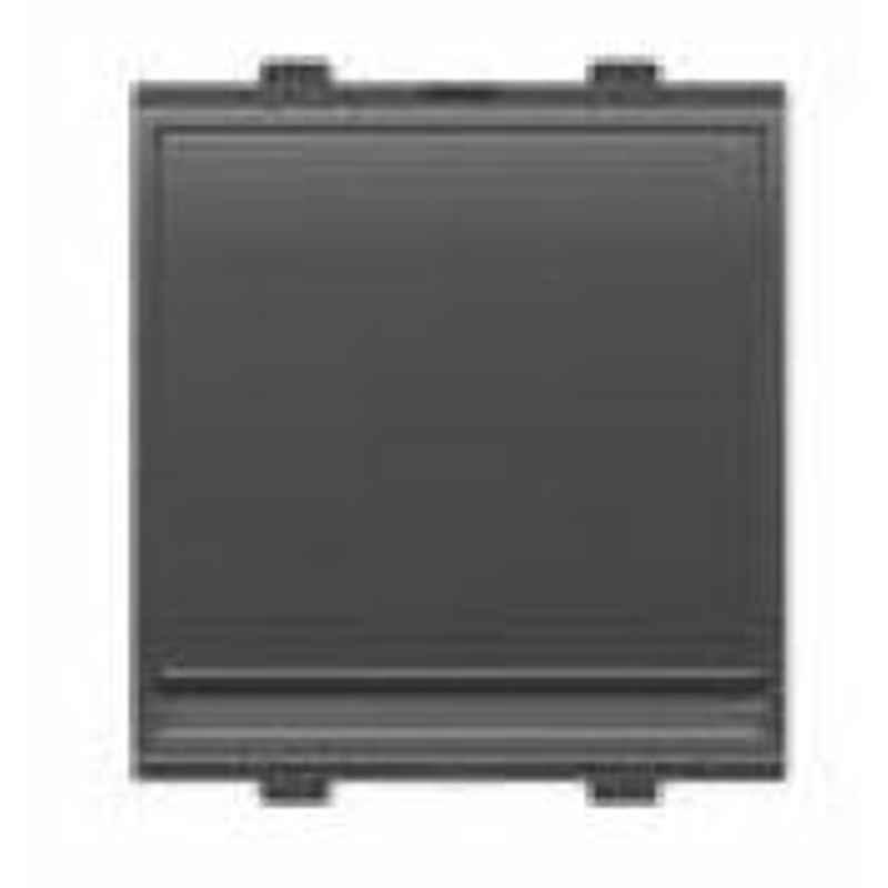 Goldmedal G-Click 10A 2 Module 1 Way Digital Silver Titanium Grey Switch, 102760 (Pack of 10)