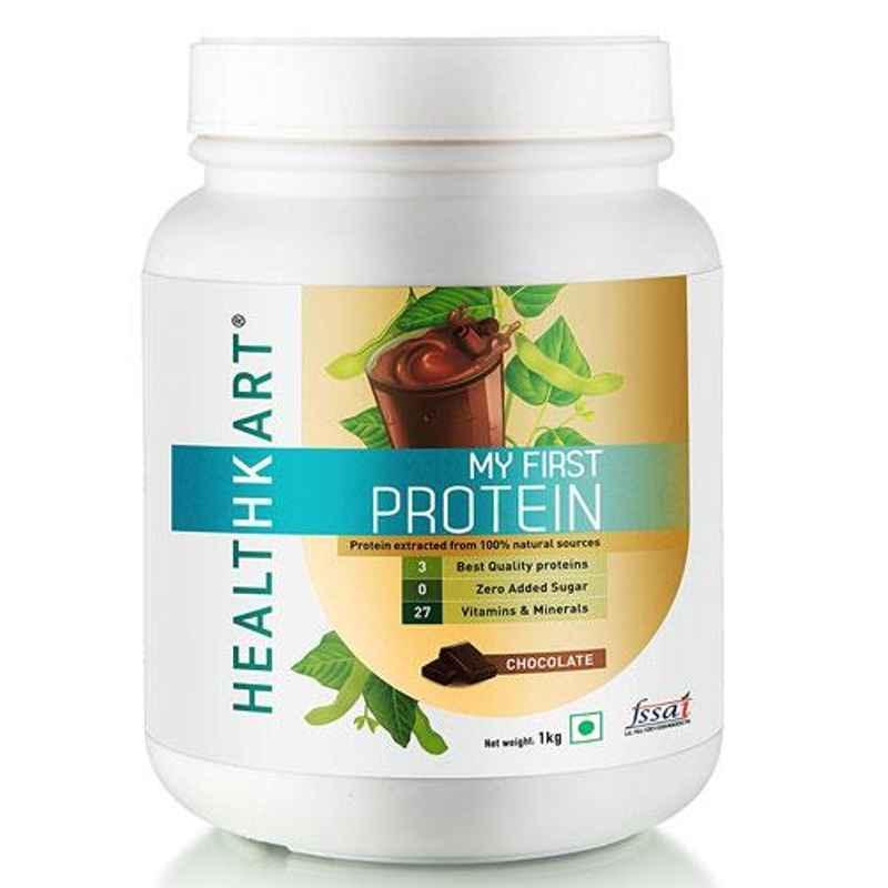 Healthkart 1kg Vanilla Flavour Beginners Protein with Whey & Casein, HNUT9187-04