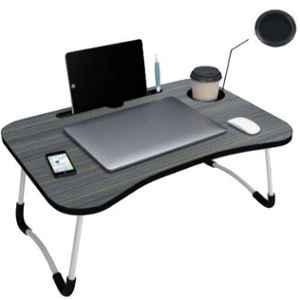 IBS FABFIZA 60x27x40cm Wooden Black Portable Laptop Table