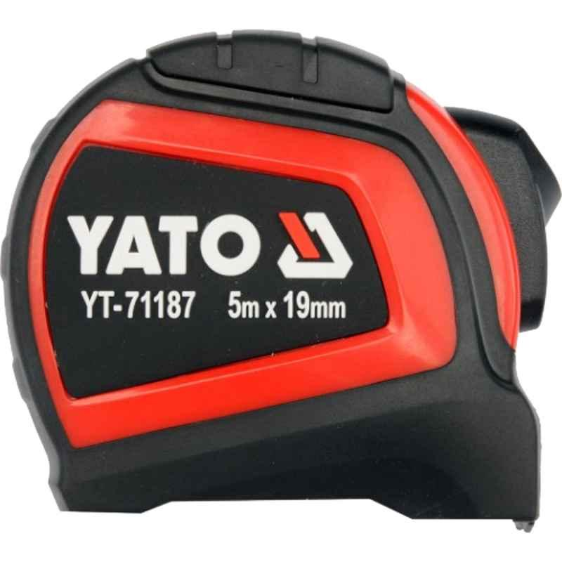 Yato 19mm 5m Yellow Rolled Up Measuring Tape, YT-71187