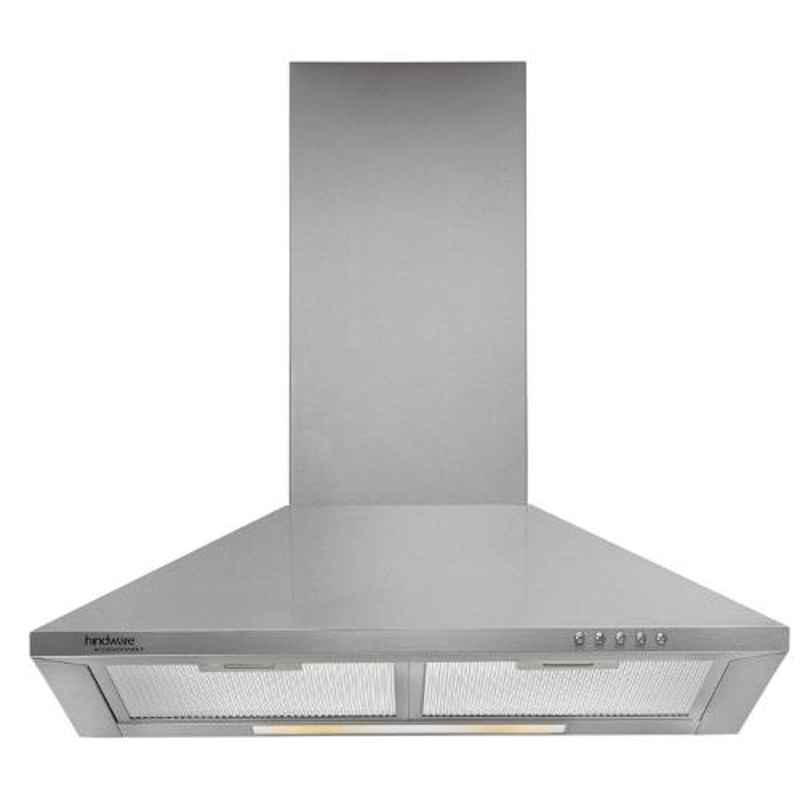 Hindware Clarissa SS 60 Silver Chimney, 513425, Size: 60 cm