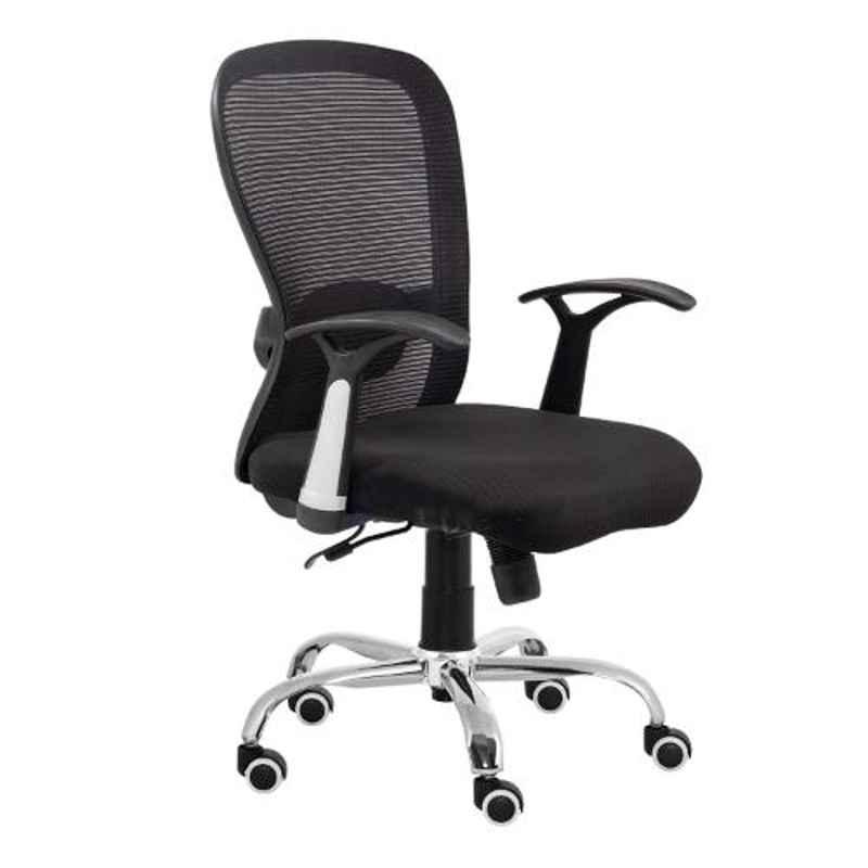 Da Urban Numero Black Medium Back Revolving Office Chair