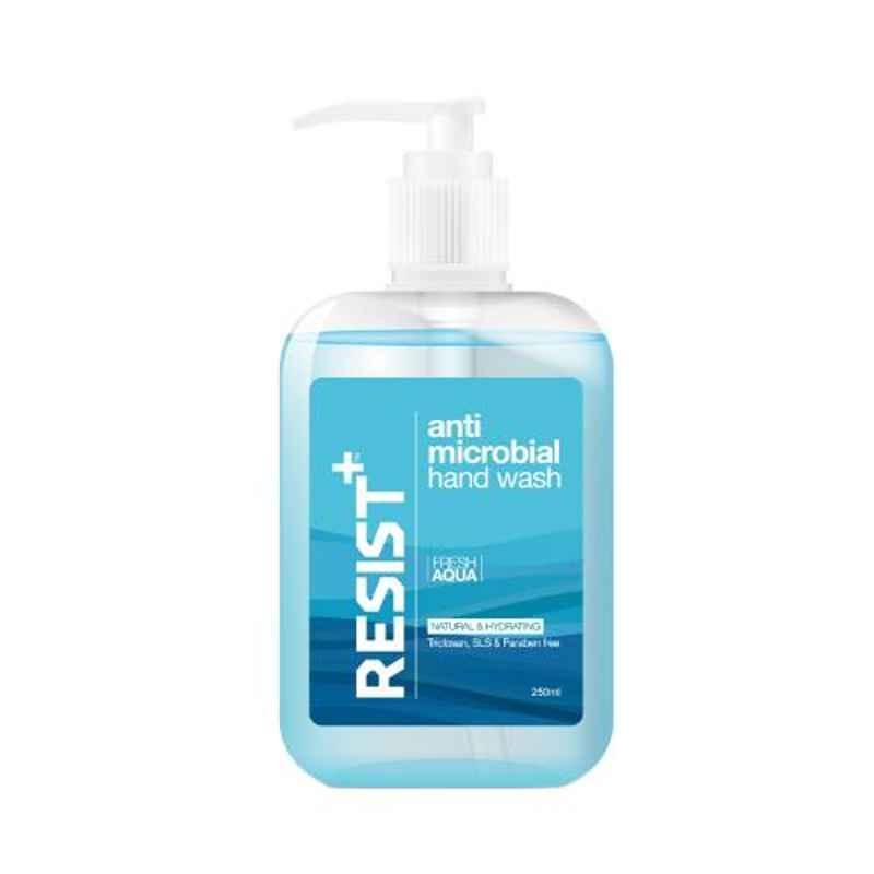 Resist Plus 250ml Fresh Aqua Anti-Microbial Liquid Hand Wash