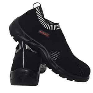 Karam Flytex FS 208 Fly Knit Fiber Toe Cap Black Sporty Safety Shoes, Size: 7
