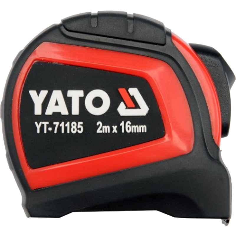 Yato 16mm 2m Yellow Rolled Up Measuring Tape, YT-71185
