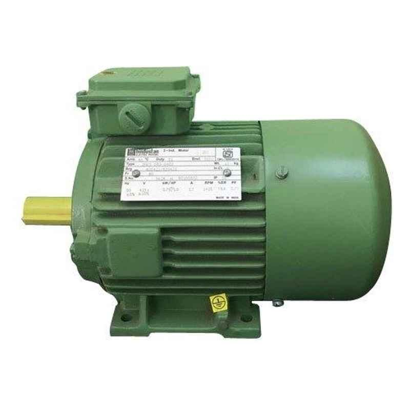 Hindustan 0.25HP 1000rpm Three Phase 6 Pole Foot Mounted Induction Motor, 2HT1 090-0603