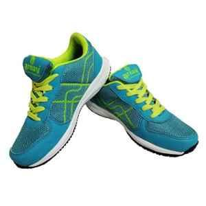Arnav PU Sky Blue Marathon Mesh Running Shoes with Small Studs, OSB-905003_MS_7, Size: 7
