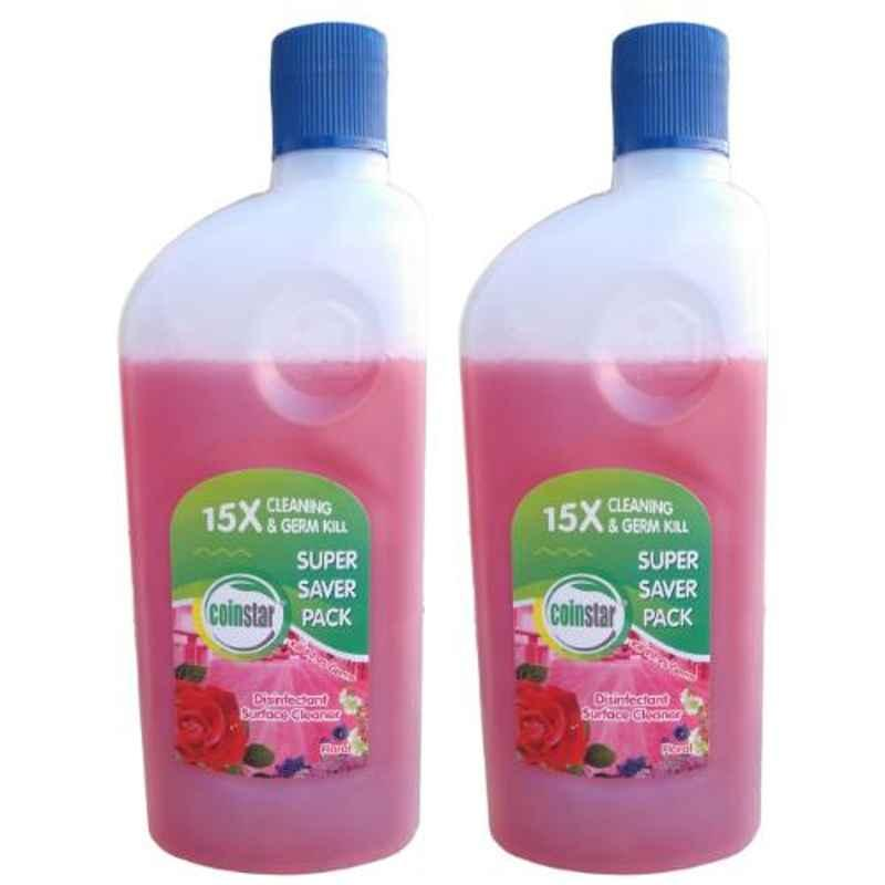 Coinstar 500ml Pink Floral Fragrance Disinfectant Surface Cleaner (Pack of 2)