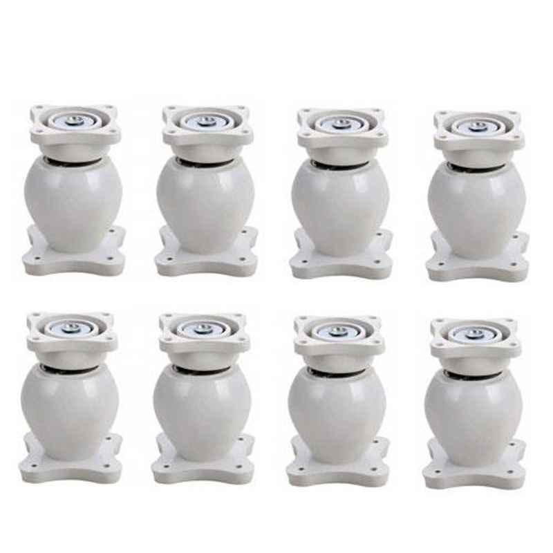 Nixnine Plastic White Magnetic Door Stopper, NO-6_WHT_8PS_A (Pack of 8)