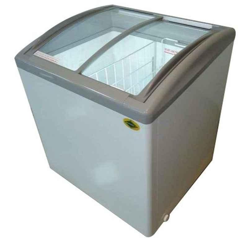 Western 242L Curved Glass Top Units Single Door Deep Freezers, NWHF225GCL