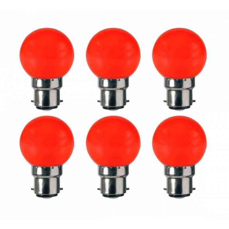 VRCT 0.5W B-22 Red Bulbs, DL-599 (Pack of 6)