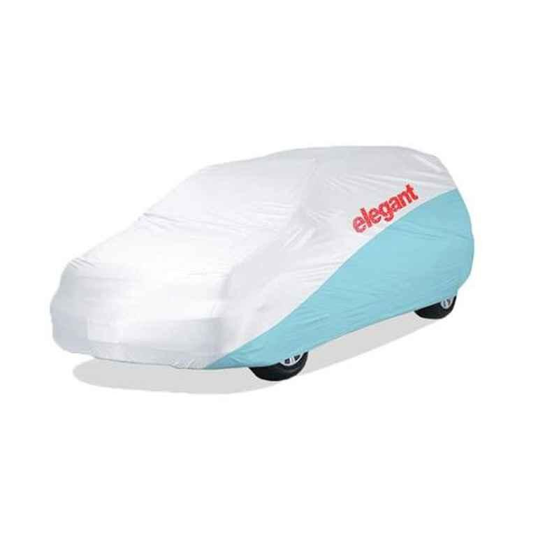 Elegant White & Blue Water Resistant Car Body Cover for Jeep Compass