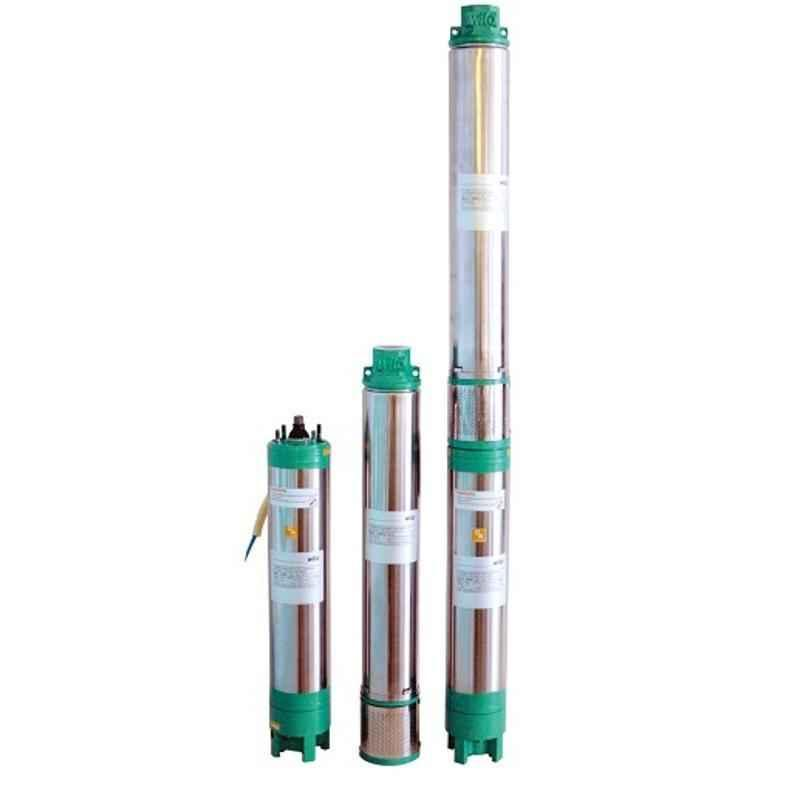 Wilo WB04 Tejas 1HP 10 Stage 4inch Borewell Oil Filled Submersible Pump, 8174941