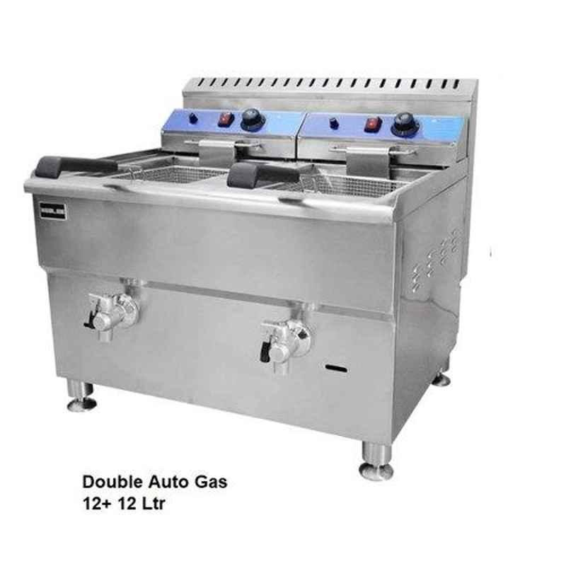 Taikong Double Tank Gas Fryer, For Commercial, Size: 680x615x630 Mm
