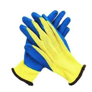 Midas Free Size White PU Palm Coated Gloves