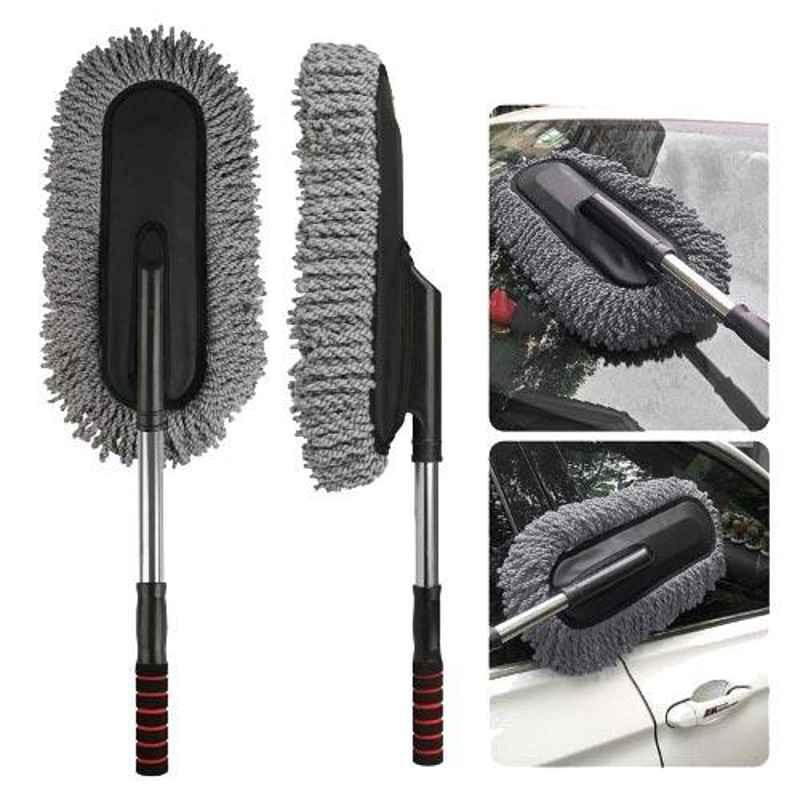 Love4ride Grey Microfiber Dry & Wet Duster