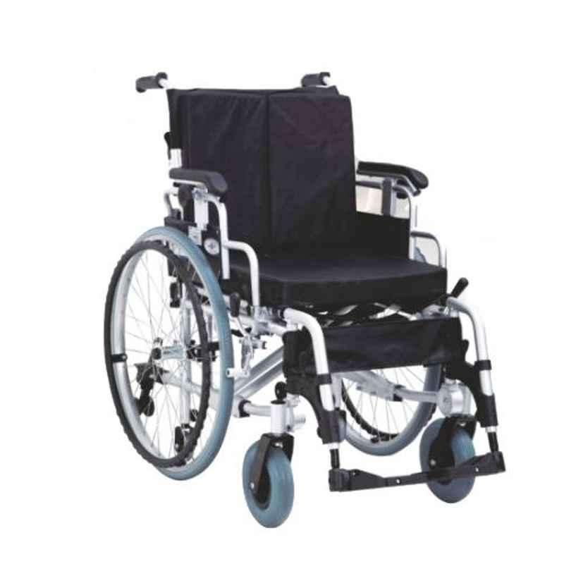 Easycare 125kg Adjustable Aluminum Wheelchair with Foldable Backrest & Quick Release Rear Wheel, EC956LAQ