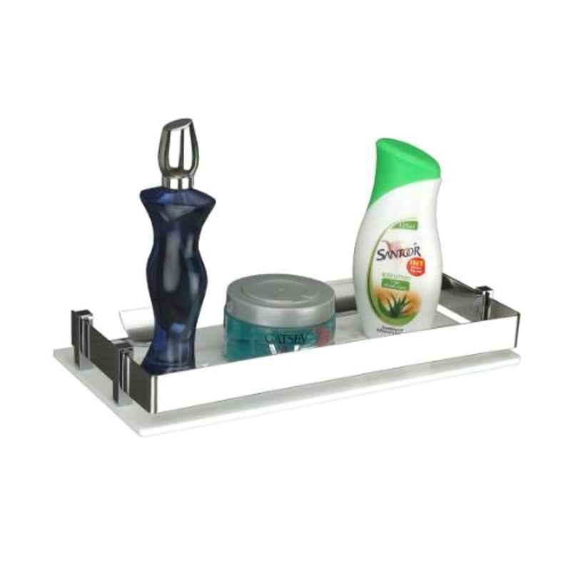 Axtry 15x6 inch Wall Mounted Acrylic White Bathroom Shelf