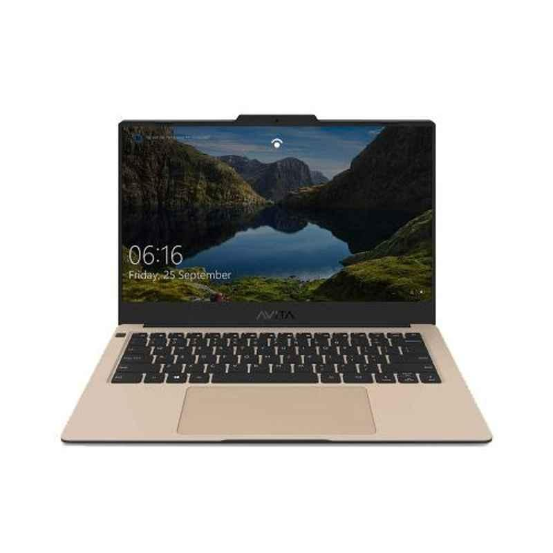 AVITA LIBER AMD Ryzen 5-3500U/8GB DDR4/512GB HDD & 14 inch Display Unicorn Gold Laptop with 2 Years Warranty, NS14A8INV561-UGA