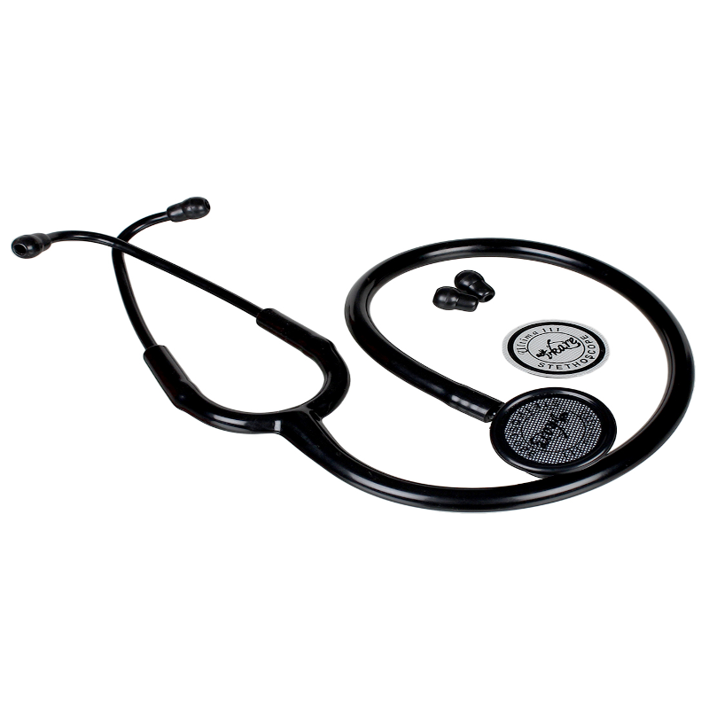 Vkare Ultima 111 Matte Black Edition Adult Stainless Steel Stethoscope, VKB0113