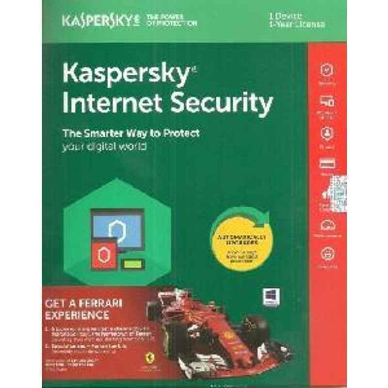KASPERSKY INTERNET SECURITY 1 USER SLIM ANTIVIRUS PREPAYMENT ONLY