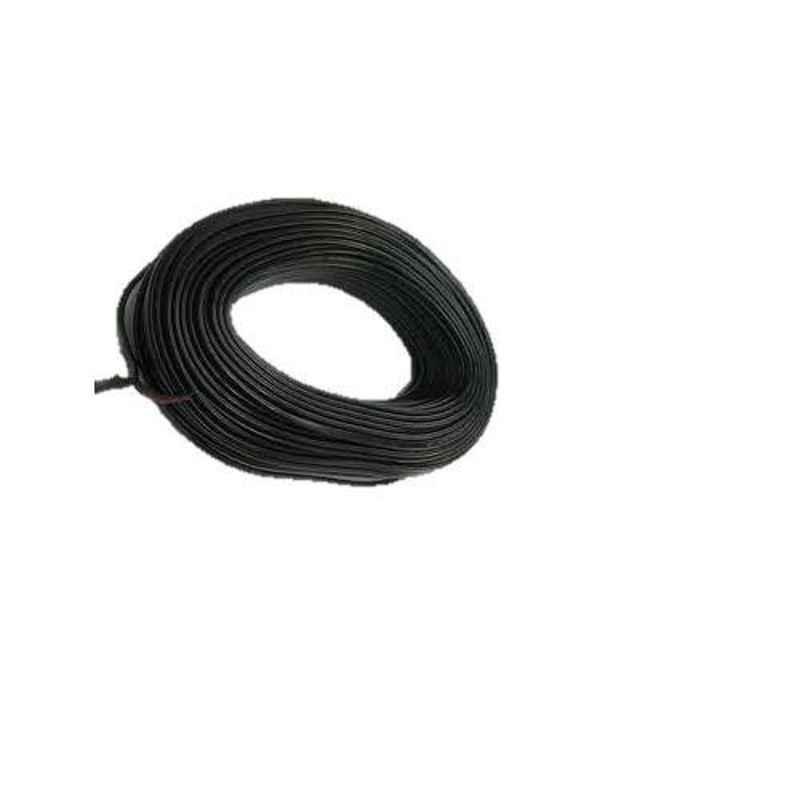 KEI 4 Sqmm Single Core HRFR Black Copper Unsheathed Flexible Cable, Length: 100 m