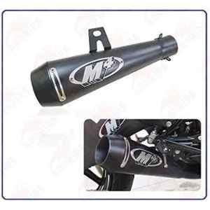 RA Accessories Black M4 with Mesh Silencer Exhaust for Suzuki Bandit