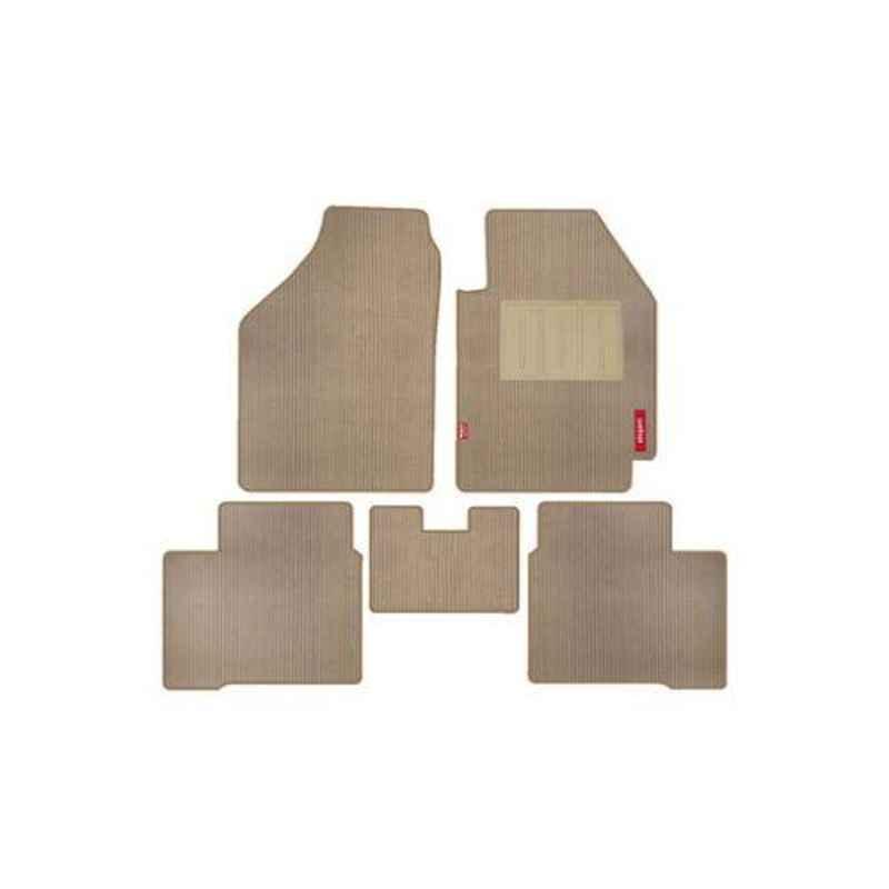 Elegant 5 Pcs Cord Beige Carpet Car Mat for Nissan Kicks XV D Set