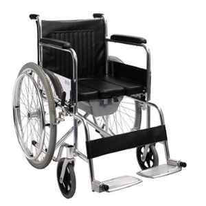 TRM Chrome Plated Steel Simple Folding Wheelchair, TR608GC-46 U Seat/2007