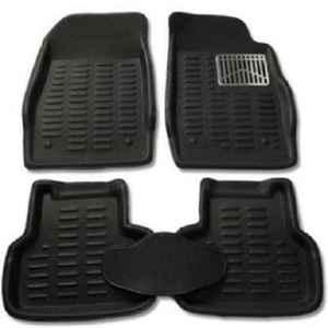 Love4ride 4 Pcs 3D Black Car Floor Mat Set for Honda Brio