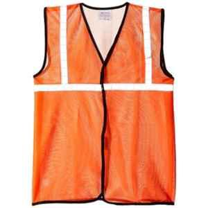 SSWW Orange PVC Reflective Safety Vest with 1 inch Reflective Tape, RB942