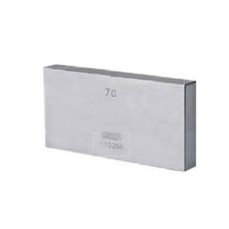 Insize 70mm Grade 0 Individual Steel Gage Block With Inspection Certificate, 4101-A70