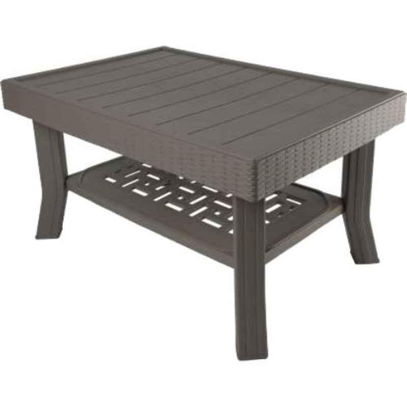 Supreme Vegas Grey Plastic & Polypropylene Rectangle Outdoor Table