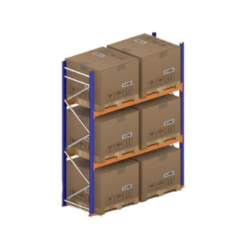 Godrej Ground Plus 2 Layers Steel Selective Pallet Racking, Max Load Capacity: 4000kg, Main Unit: 3500x2700x1000mm (HxWxD)