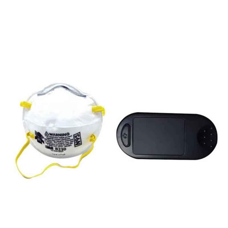 3M 8210 NIOSH N95 Particulate Respirator Mask (Pack of 2) & Fingertip Pulse Oximeter Combo