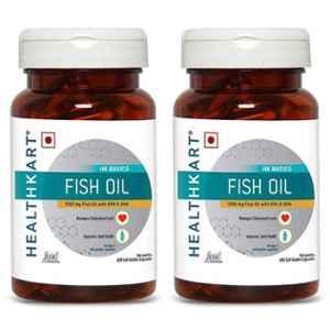 Healthkart 60 Pcs Fish Oil Capsules, HNUT12607-01, (Pack of 2)