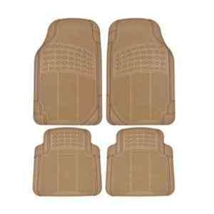 Love4ride 4 Pcs Beige Rubber Car Floor Mat Set for Tata Nano Genx