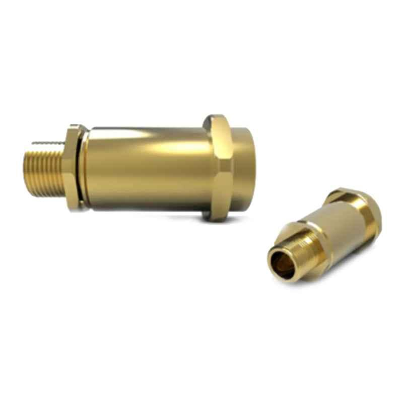 Hawke 491 M75xM75 Brass Male to Female Swivel In-Line Union with Integral Silicone O-Ring