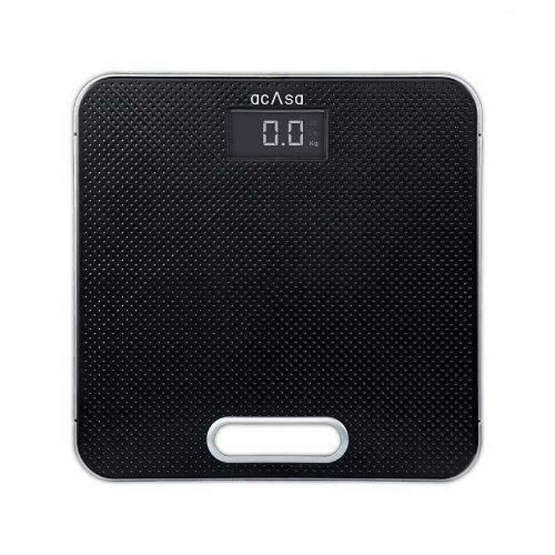 Acasa Digiscale Silica Pro 180kg Black Digital Weighing Machine