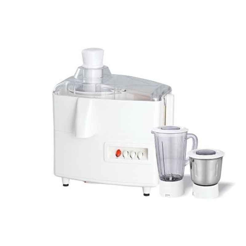 Morsel Kitchen Master-001 550W White & Transparent Juicer Mixer Grinder with 2 Jars