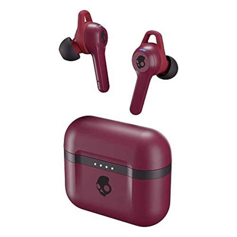 Skullcandy Indy Evo True Deep Red Wireless Earbuds with Mic, S2IVW-N741