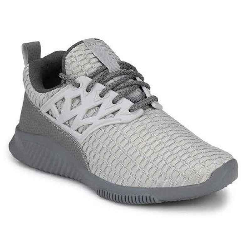 Wonker 6180 Mesh Steel Toe Grey Safety Shoes, Size: 6