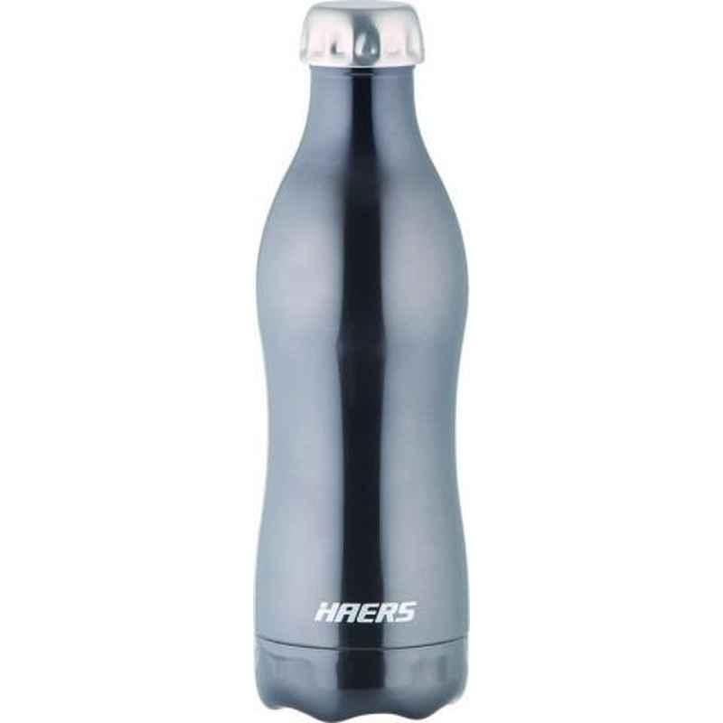 Haers 500ml Stainless Steel Black Beverage Bottle, HKL-500WB-BLK