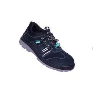 Ash-Wan CHARLIE-N11 Leather Steel Toe Navy Blue Safety Shoes, Size: 11